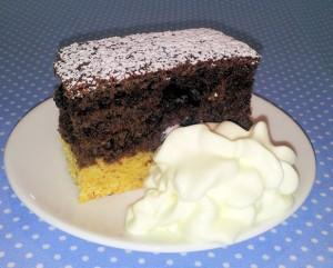 Biscuit cake slice