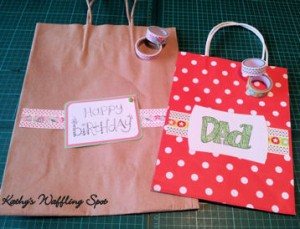 Washi paper bag