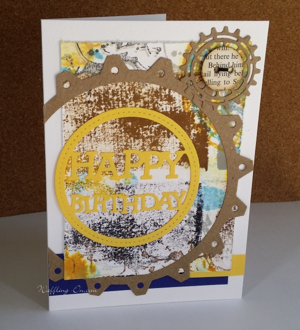 Large cog male Birthday card