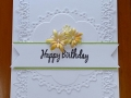 Happy Birthday embossed