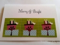 Presents christmas tag card