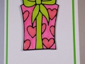 Gift box coloured